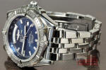 Breitling HeadWind day date A45355 blue dial philadelphia used