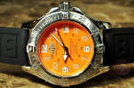 Breitling  SuperOcean with Orange Dial A17360 box papers