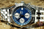 Breitling Chronomat A13050.1 Blue Dial box papers used watch philadelphia