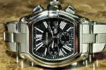 Cartier Roadster Chronograph XL  2618 with box and papers philadelphia used preowned