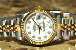 Rolex Lady Datejust with Box and papers 18k gold steel philadelphia buy used