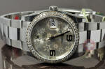 Rolex Datejust lady with Flower Dial   116244 Philadelphia rolex diamond bezel