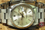Rolex Datejust mens with white gold fluted bezel discount