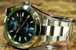 Rolex MilGauss with Blue Dial / Green Glass Box / Card 116400GV philadelphia used sale