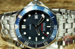 Omega Seamaster Professional Diver 300m quartz blue wave used watch philadelphia 196.1504