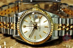 Rolex Lady Datejust with Box and papers gold steel  used watch philadelphia