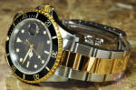 Rolex Submariner 18k gold / Steel Black 16613 box papers philadelphia ardmore new jersey