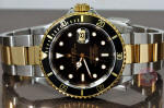 Rolex Submariner 18k gold / steel 16613 box papers philadelphia buy used