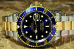 Rolex Submariner 16613 Blue steel and gold papers Philadelphia buy preowned