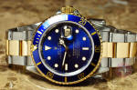 Rolex 18k gold  Steel Submariner 16613 Blue philadelphia ardmore discount