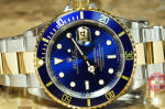 Rolex Submariner 18k gold / Steel Blue 16613 philadelphia new jersey buy used discount