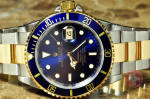Rolex submariner blue 16613 box papers serviced by rolex