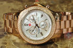 Michele Jetway Diamond Chronograph Rose Gold Plated Model MW17A01B4025 philadelphia buy used