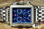Michele Diamond Rectangular Chronograph MW06P01A1956 preowned used philadelphia
