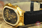 Philip Stein Teslar Large Dual Time Solid 18k Yellow Gold